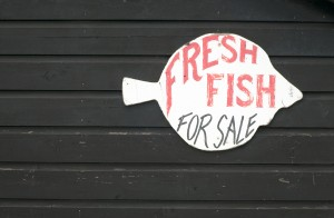 Fish for sale sign